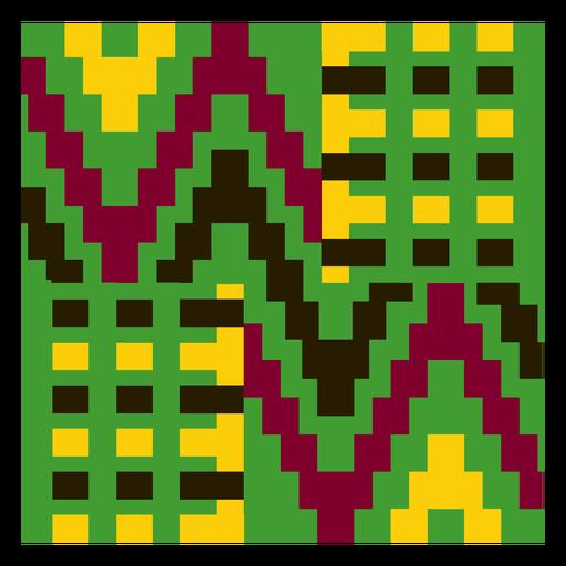 Colorful gometric kente cloth composition