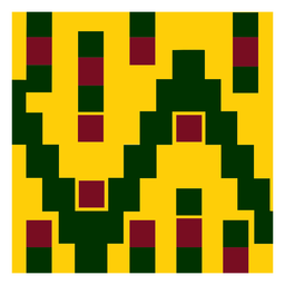 Colorful kente cloth pattern composition