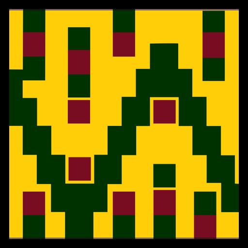 Colorful kente cloth pattern composition
