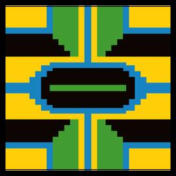 Composição de padrão colorido kente