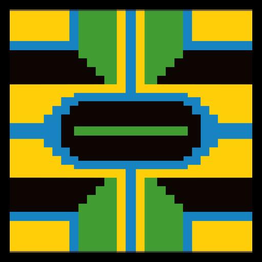 Colorful kente pattern composition
