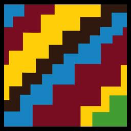 Composición colorida de kente de la escalera