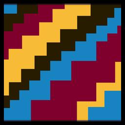 Composición colorida del patrón de kente de la escalera
