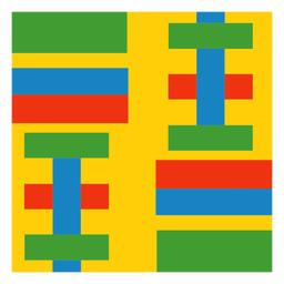 Colorful strip kente composition