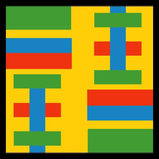 Colorful strip kente composition