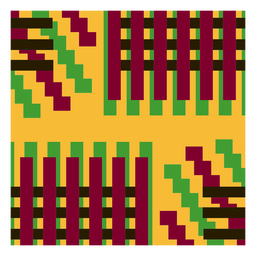 Colorful stripes kente composition