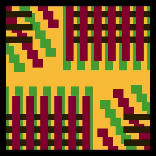 Colorful stripes kente composition