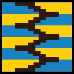 Composição colorida de zig zag kente