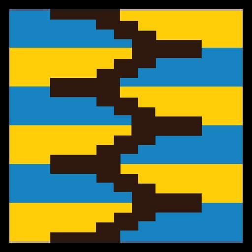 Colorful zig zag kente composition