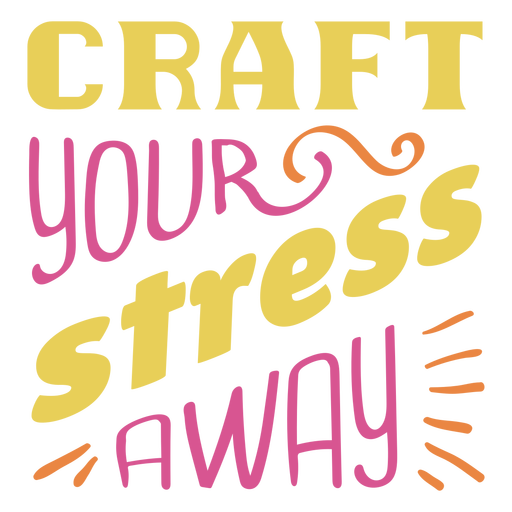 Frase de letras de estrés artesanal