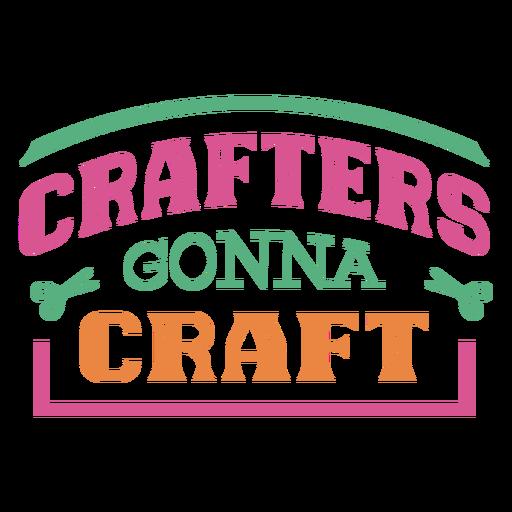 Los artesanos van a crear una frase de letras.