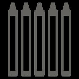 Crayon icono gris blanco