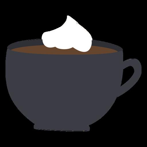 Taza de café con crema batida plana Transparent PNG