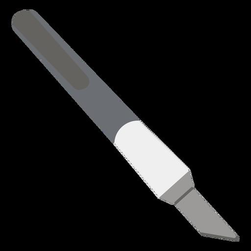 Cutting knife grey flat icon