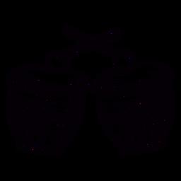 Tambor decorado dibujado a mano símbolo esquema