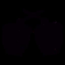 Plantilla de símbolo dibujado a mano de tambor decorado