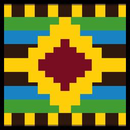 Composição de diamante colorido kente