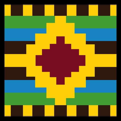 Diamond colorful kente composition
