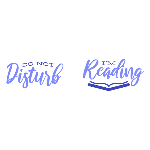 Do not distrub reading quote blue Transparent PNG