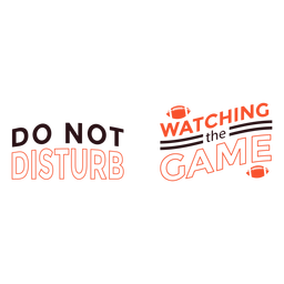 No molestar viendo la cita del juego