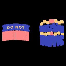 No molestar viendo la cita de la película