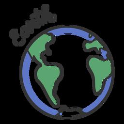 Tierra simple sistema solar planeta