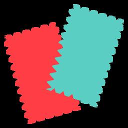 Muestra de tela icono plano muestra