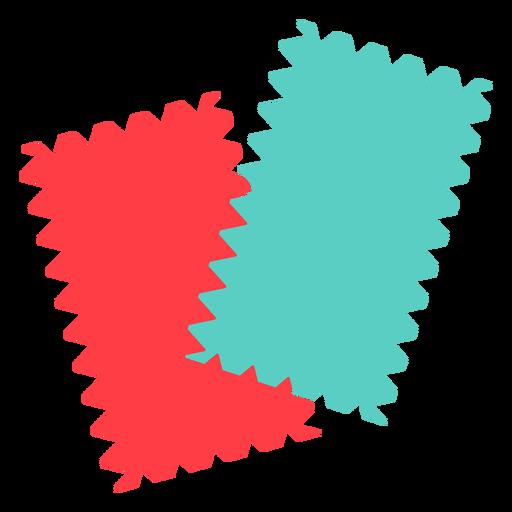 Fabric sample swatch flat icon