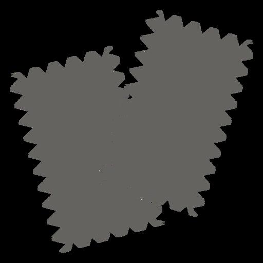 Fabric sample swatch grey flat icon