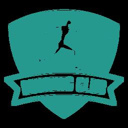 Female runner running club badge green
