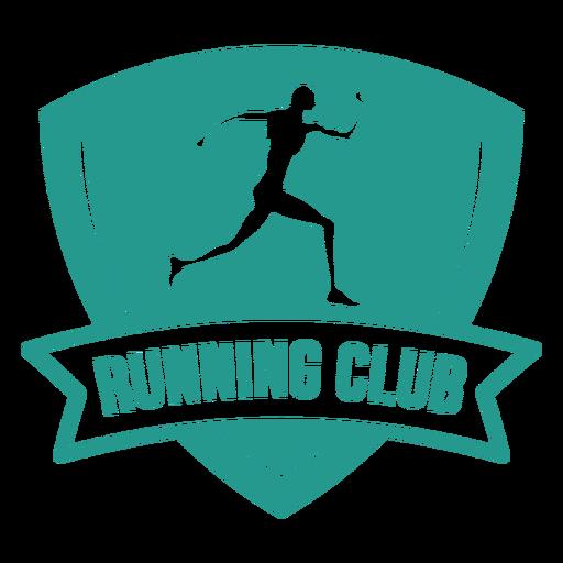 Corredor femenino corriendo club insignia verde
