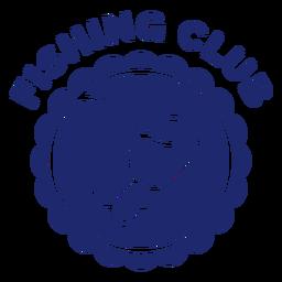 Gancho de pesca clube distintivo azul