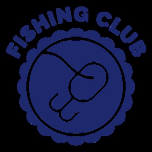Fishing hook club badge blue Transparent PNG