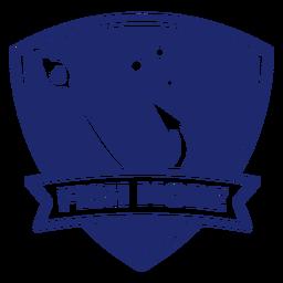 Anzuelo de pesca pez más insignia azul