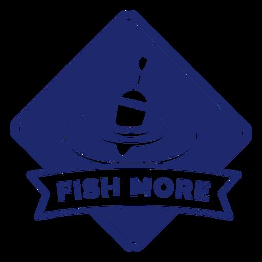 Fishing more badge blue Transparent PNG