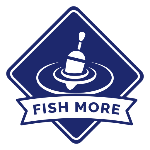 Fishing more badge blue