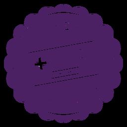 Insignia del controlador de jugador púrpura