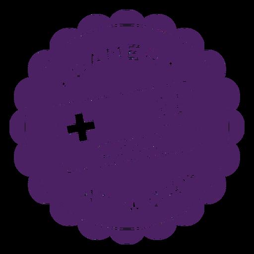 Roxo de distintivo de controlador de jogador Transparent PNG