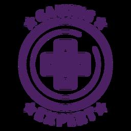 Círculo de distintivo de especialista em jogos roxo