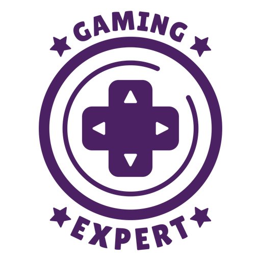 Gaming expert badge purple circle