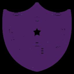 Emblema especialista em jogos roxo escudo