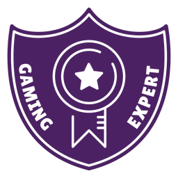 Gaming expert badge purple shield