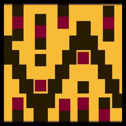 Composição geométrica de roupas kente