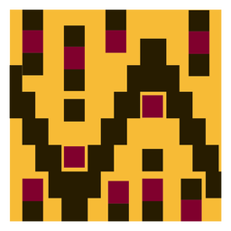 Geometric clothing kente composition