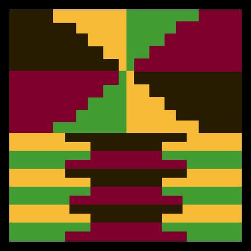 Geometric colorful kente composition