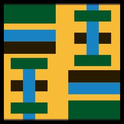Geometric stripe kente composition