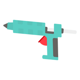Icono plano de pistola de pegamento