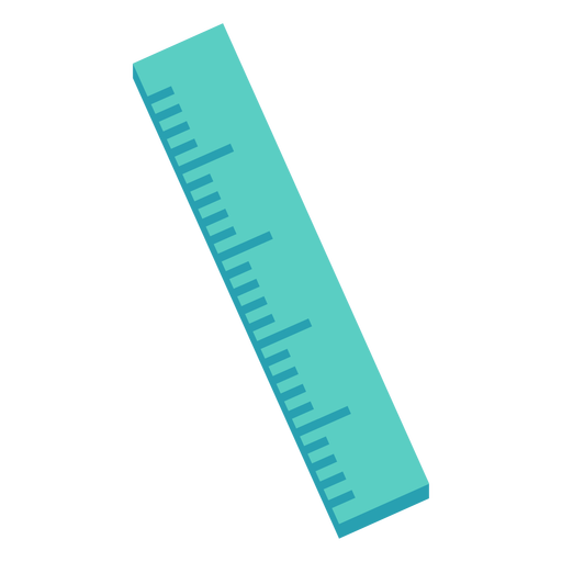 Green straight ruler flat icon