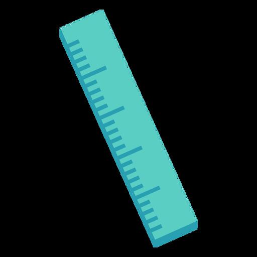 Icono plano regla recta verde