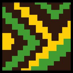 Composición de kente de escalera amarilla verde